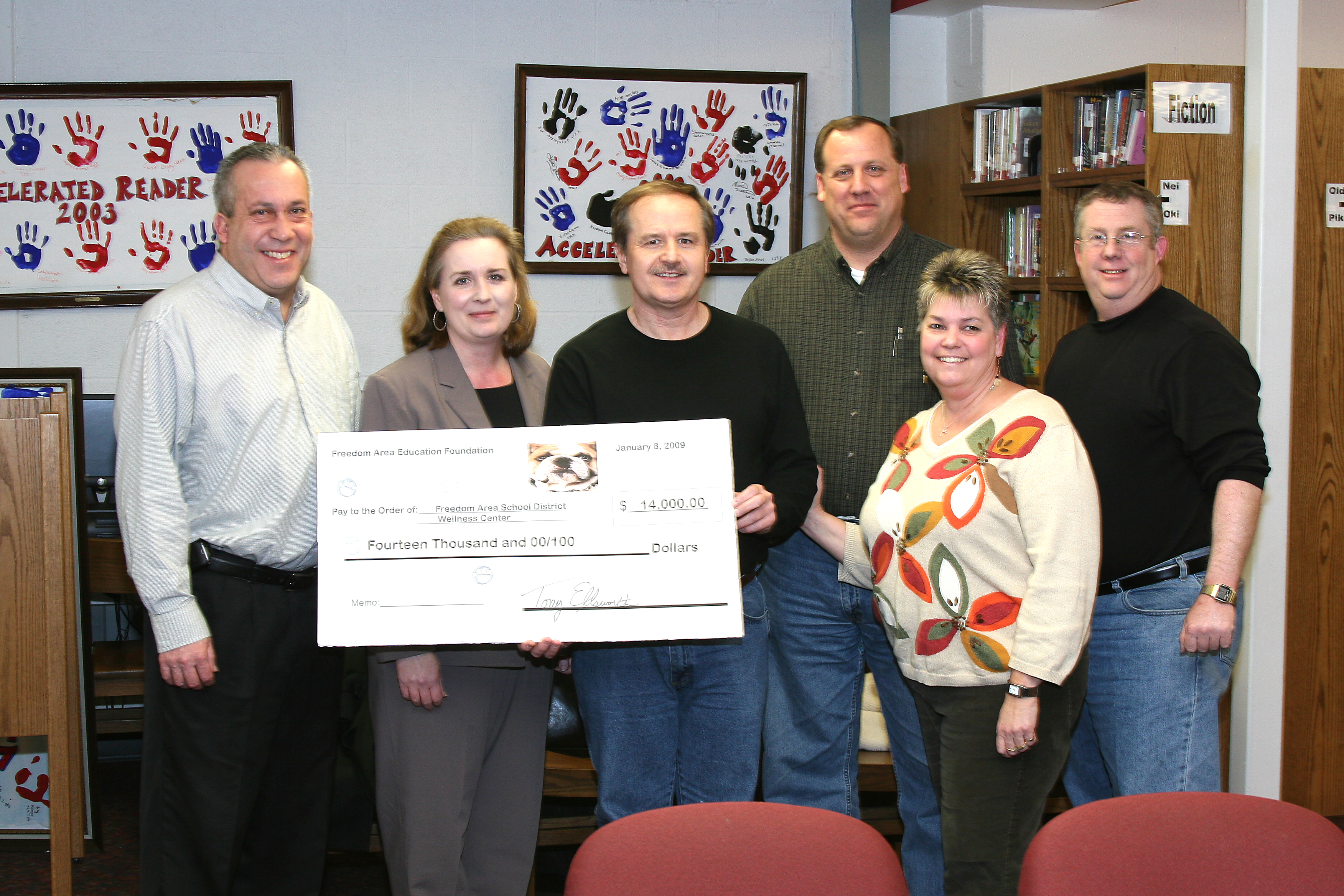 Wellness Center Donation to School Board, February 2009